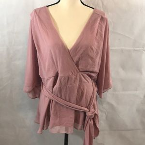 City Chic wrap blouse in  size Small /16